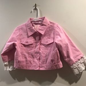 Pink long sleeve button jacket